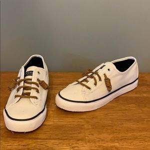 Brand New Sperry Sneakers White Canvas Women's 6